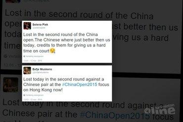Piek en Muskens niet opgewassen tegen Chinees geweld op China Open