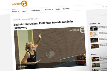 Selena Piek naar tweede ronde in Hongkong