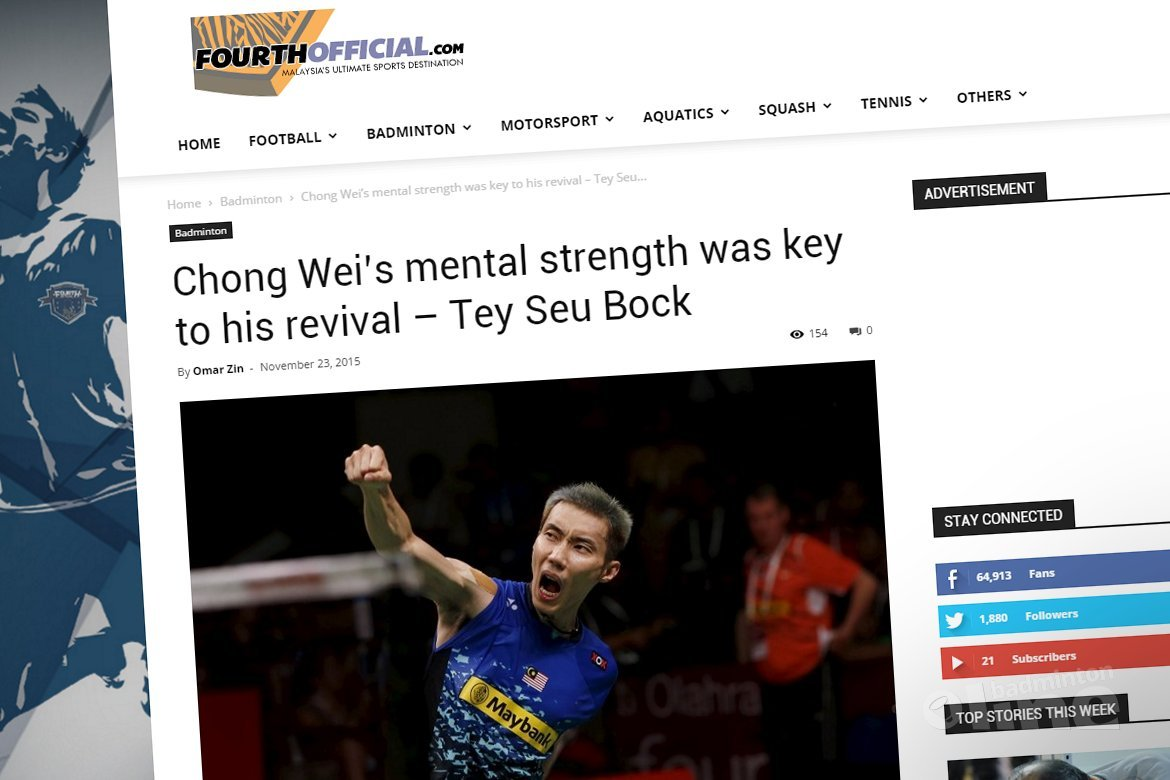 Lee Chong Wei's mental strength was key to his revival