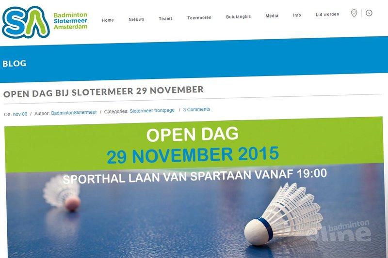 29 november 2015: open dag bij Badminton Slotermeer Amsterdam - Slotermeer Amsterdam