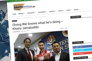 Lee Chong Wei knows what he's doing