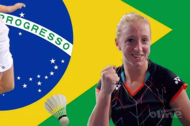 Finale voor badmintonsters Piek en Muskens op Brasil Open - Eefje Muskens