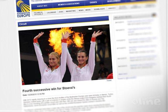 Deze afbeelding hoort bij 'Fourth successive win for Stoevas' en is gemaakt door Badminton Europe
