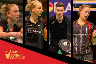Four Dutch shuttlers at the Malaysia Masters 2016 in Penang