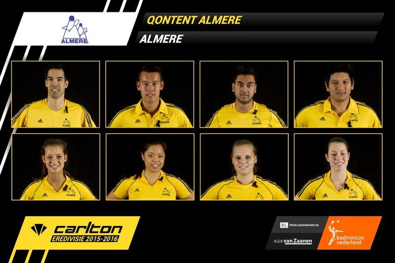 Zaterdag 24 oktober 2015: Almere tegen Slotermeer - Badminton Nederland