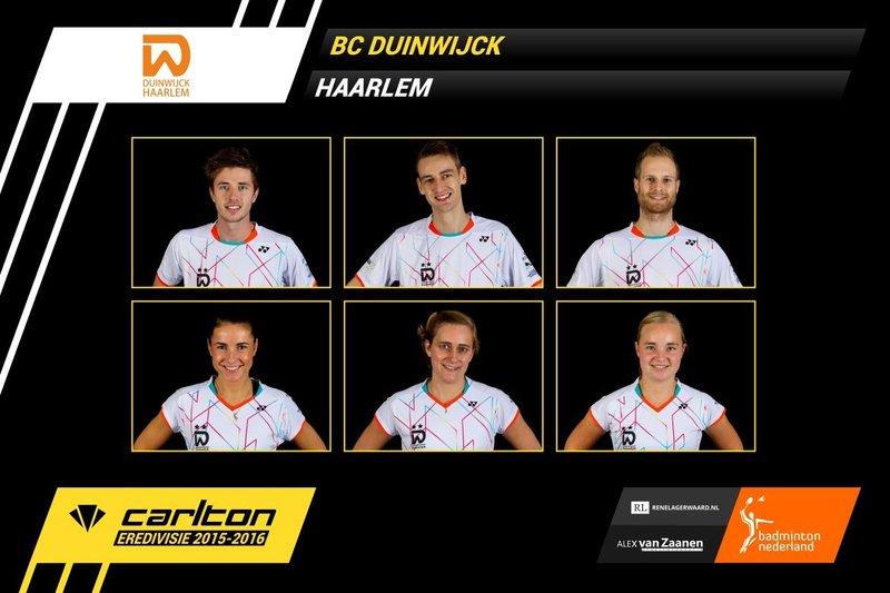Teleurstellend resultaat voor Duinwijck - Badminton Nederland