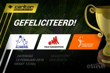 Finale Carlton Eredivisie 2015-2016 tussen VELO en Almere