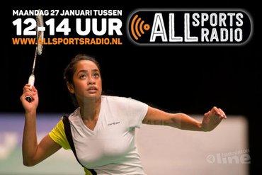 NK Badminton 2015 runner-up Gayle Mahulette te gast bij ALLsportsradio LIVE!