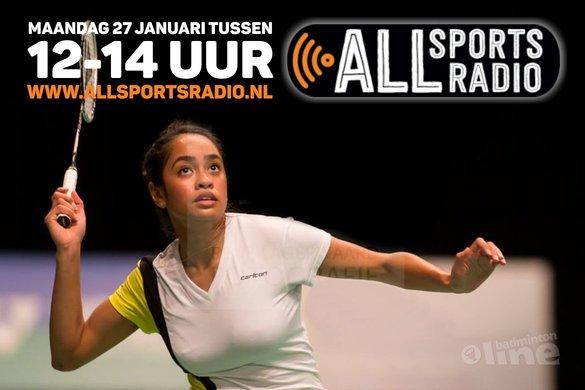 NK Badminton 2015 runner-up Gayle Mahulette te gast bij ALLsportsradio LIVE! - René Lagerwaard / badmintonline.nl