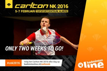 Topbadminton tijdens Carlton NK 2016
