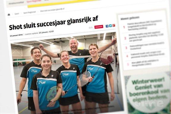 Dongense badmintonclub Shot sluit succesjaar glansrijk af - BN/DeStem