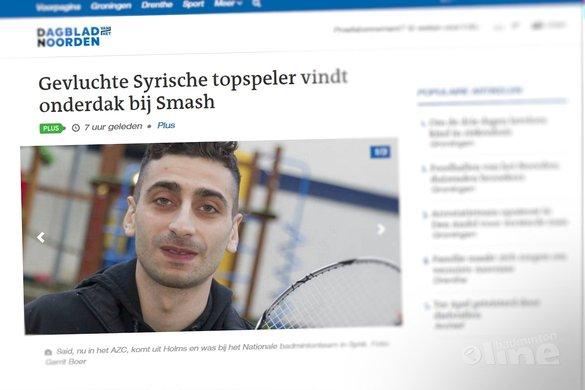 Gevluchte Syrische topspeler vindt onderdak bij Smash - Dagblad van het Noorden