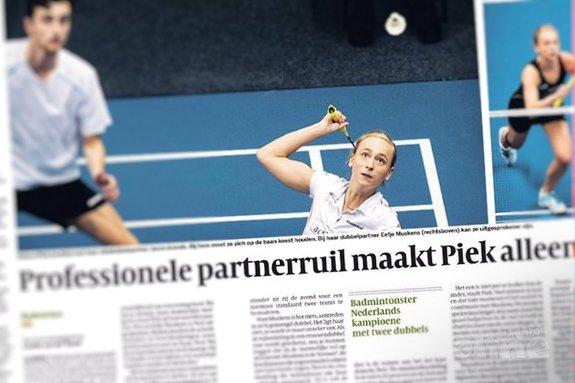 Deze afbeelding hoort bij 'Professionele partnerruil maakt badmintonster Piek alleen maar beter' en is gemaakt door Volkskrant