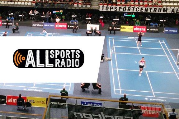 Deze afbeelding hoort bij 'ALLsportsradio bij Carlton NK Badminton 2016: spanning en sensatie!' en is gemaakt door ALLsportsradio / badmintonline.nl