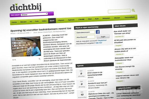 Spanning bij voorzitter badmintonners neemt toe - Dichtbij Almere