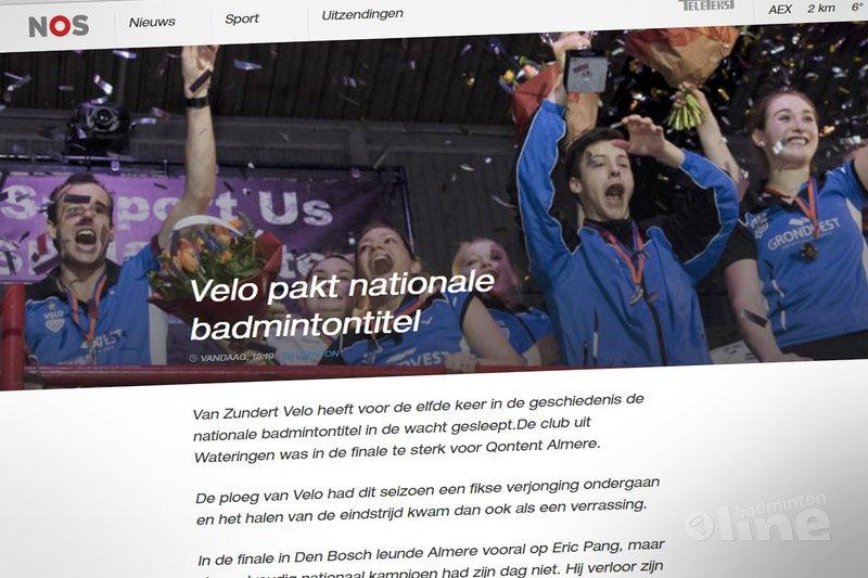NOS: Velo pakt nationale badmintontitel - NOS