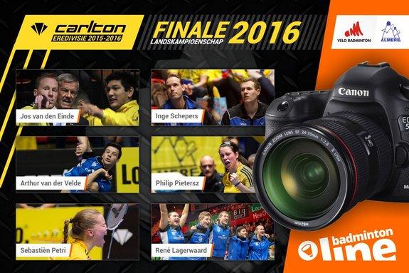 Prachtige badmintonfoto's Carlton Eredivisie finale om landskampioenschap in Maaspoort Den Bosch - badmintonline.nl