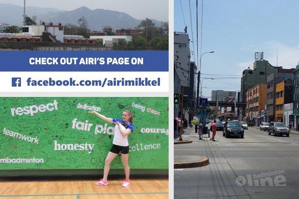 Finland's Airi Mikkela: Hello from Peru! - Airi Mikkela / badmintonline.nl