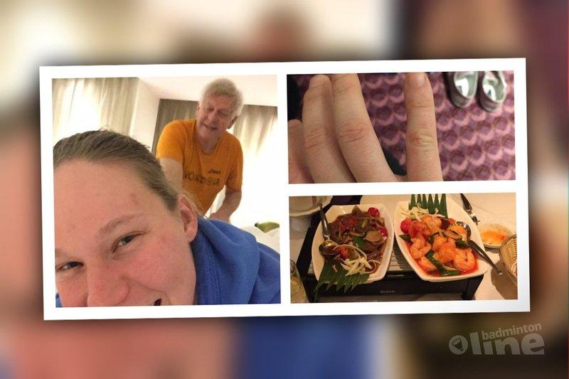 Iris Tabeling enjoyed herself some Thai food and a lovely massage - Iris Tabeling