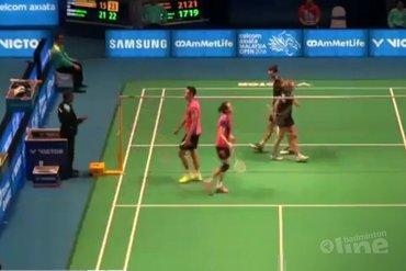 Badmintonduo Arends en Piek niet sterk genoeg in eerste ronde Malaysia Open