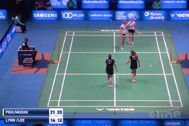 Eefje Muskens en dubbelpartner Piek probleemloos naar tweede ronde Malaysia Open