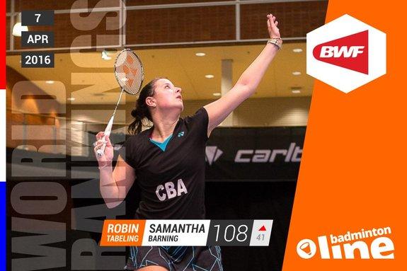 Wereldranglijst van donderdag 7 april 2016: Muskens en Piek terug in top 10 - Sebastièn Petri / badmintonline.nl