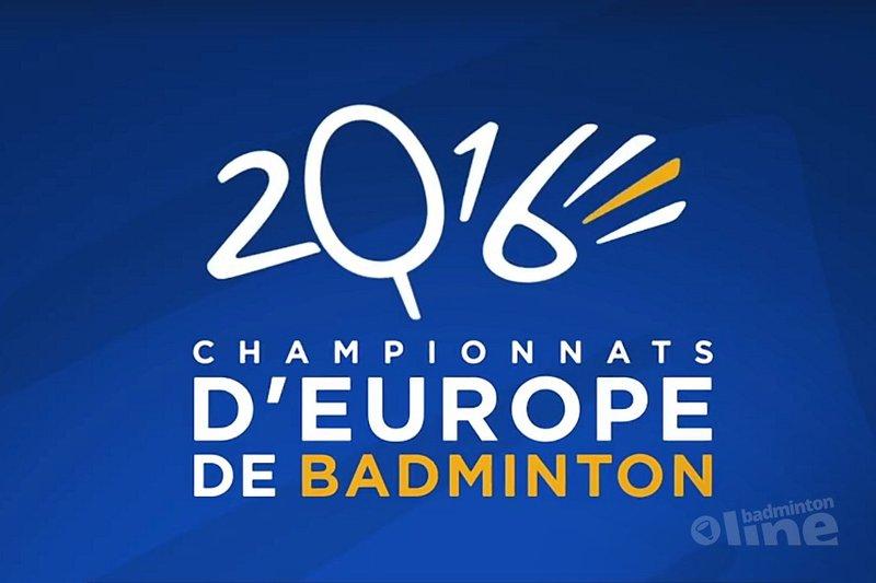 Jacco Arends, Selena Piek, Samantha Barning, Iris Tabeling en Eefje Muskens in kwartfinales EK - Badminton Europe