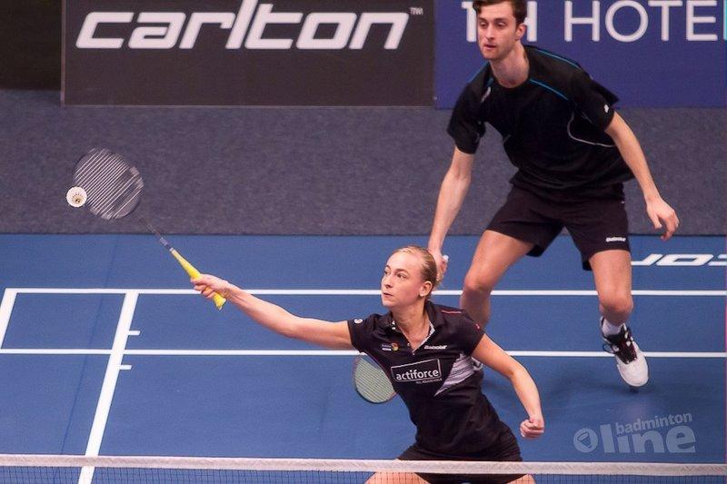 Jacco Arends en dubbelpartner Piek bij laatste acht EK Badminton - Sebastièn Petri