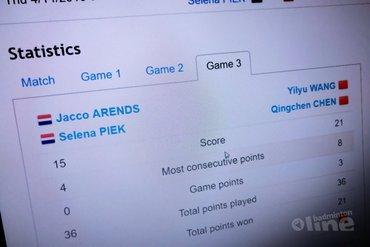 Jacco Arends en Selena Piek lopen kwartfinale mis in Singapore