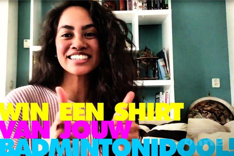 Deze afbeelding hoort bij 'Win een shirt van jouw badmintonidool!' en is gemaakt door Gayle Mahulette / badmintonline.nl