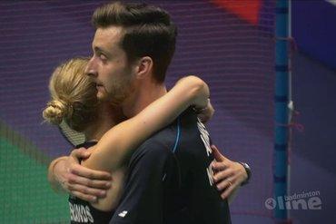 Selena Piek en Jacco Arends stranden in eerste ronde EK Badminton