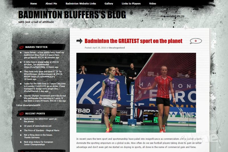 Badminton Europe reporter Mark Phelan: badminton is the greatest sport on the planet - Badminton Bluffer