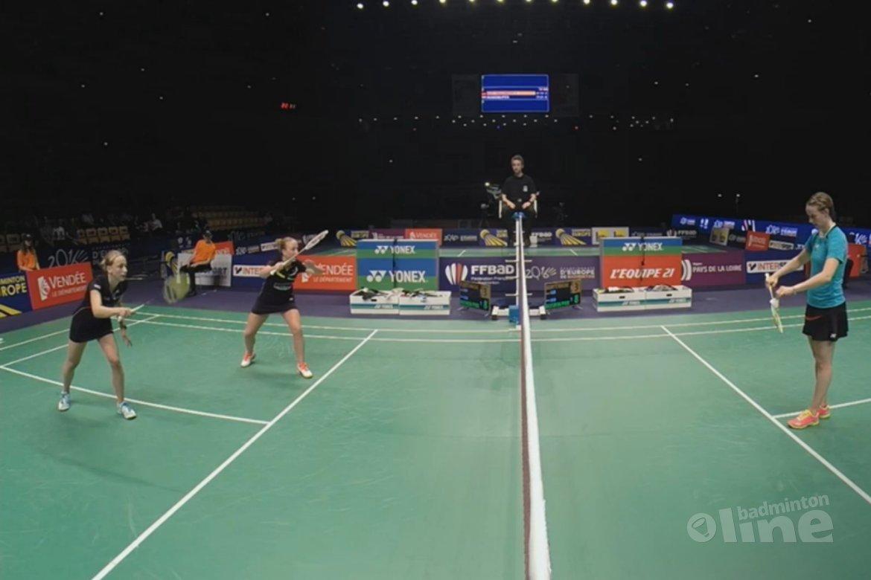 Ook Muskens en Piek naar halve finale op EK Badminton