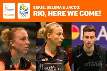 Jacco, Selena en Eefje gaan naar Rio!