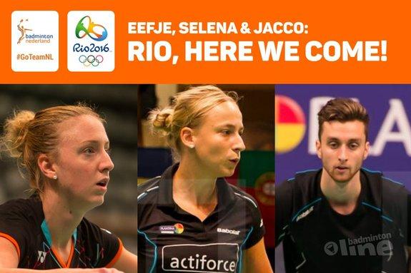 Jacco, Selena en Eefje gaan naar Rio! - René Lagerwaard / badmintonline.nl