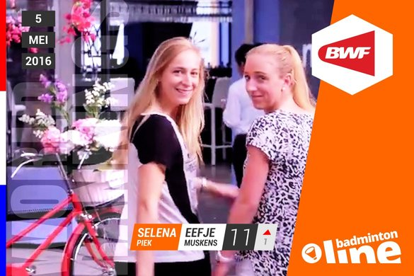Wereldranglijst van donderdag 5 mei 2016: Road to Rio feestje - badmintonline.nl