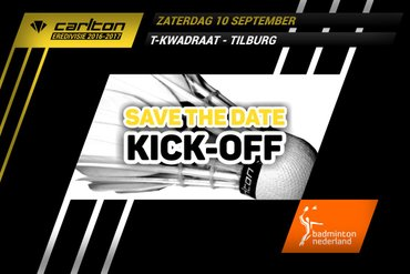 Save the date! Zaterdag 10 september kick-off Carlton Eredivisie 2016-2017
