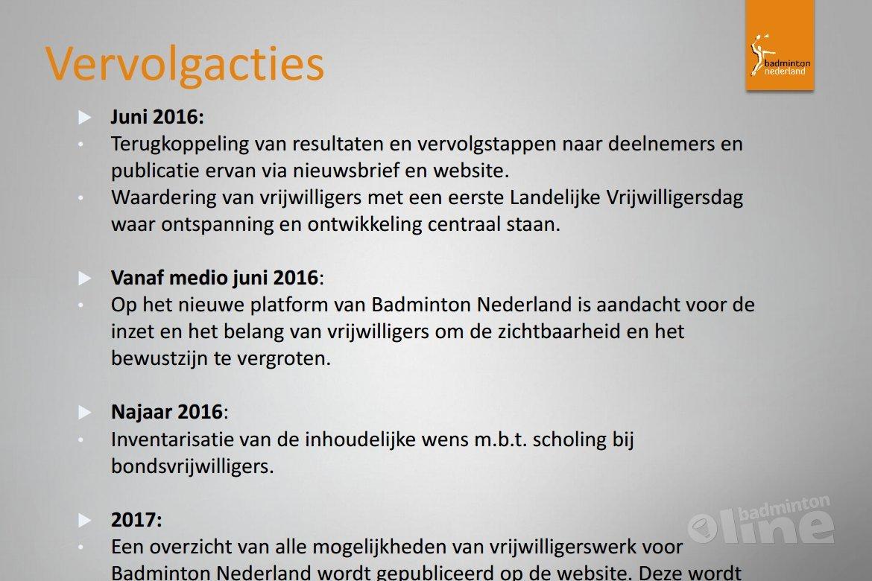 Op basis van slechts 53 respondenten: Vrijwilligers Badminton Nederland zijn erg maatschappelijk betrokken