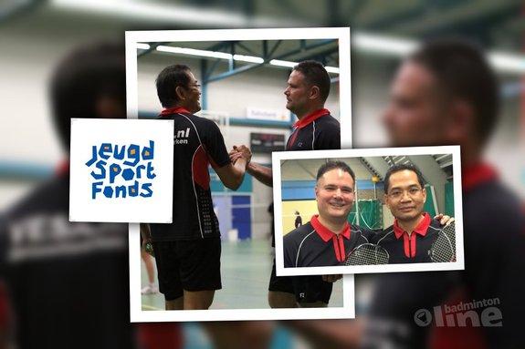 Badmintonduo zet zich in voor Jeugdsportfonds - Team Tjap Tjoy / badmintonline.nl