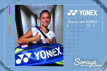 Topbadmintonner Soraya de Visch Eijbergen verlengt sponsorcontract met marktleider Yonex