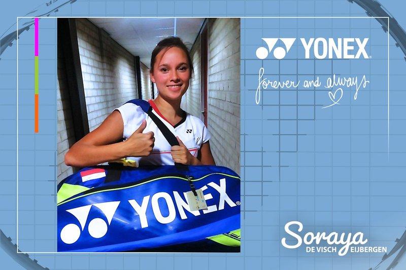 Topbadmintonner Soraya de Visch Eijbergen verlengt sponsorcontract met marktleider Yonex - Soraya de Visch Eijbergen