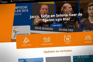 Nieuwe badminton.nl vandaag online