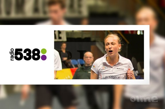 Selena Piek in de Radio 538 uitzending bij Evers Staat Op - René Lagerwaard / badmintonline.nl