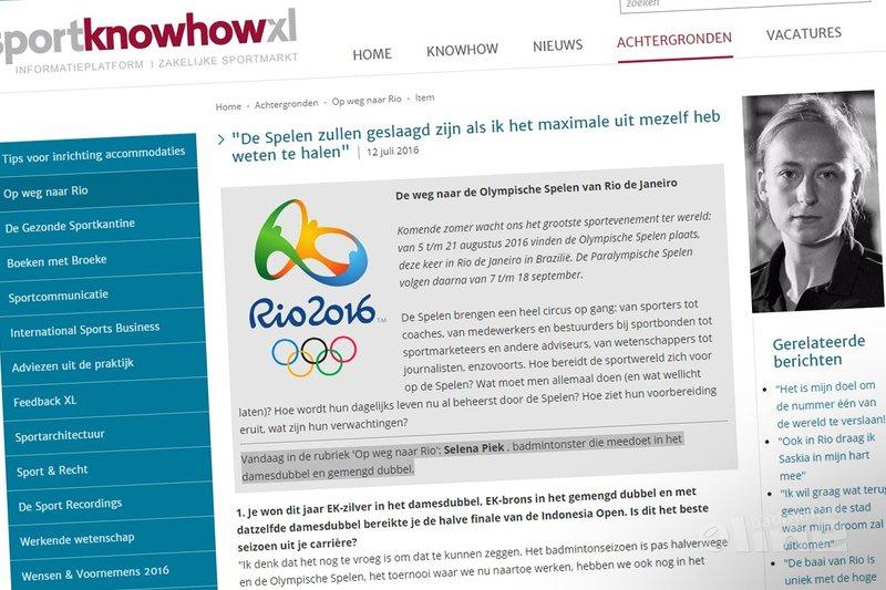 Selena Piek: De Spelen zullen geslaagd zijn als ik het maximale uit mezelf heb weten te halen - Sport Knowhow XL