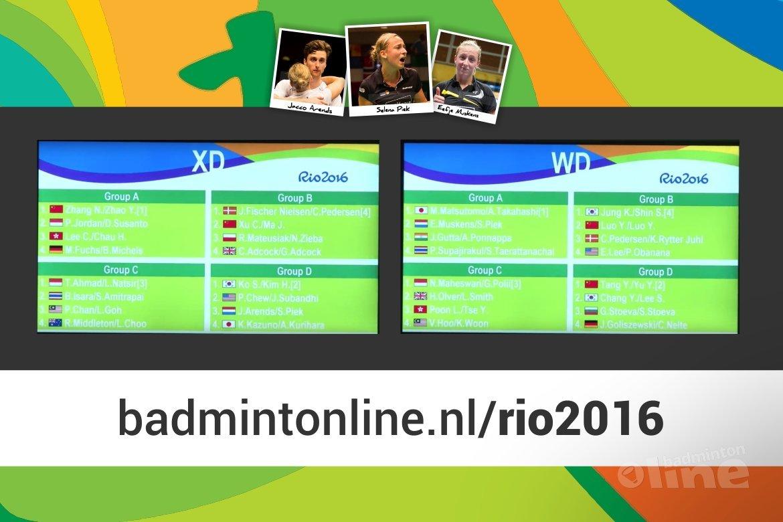 Loting Olympisch badmintontoernooi voor Jacco Arends, Selena Piek en Eefje Muskens bekend