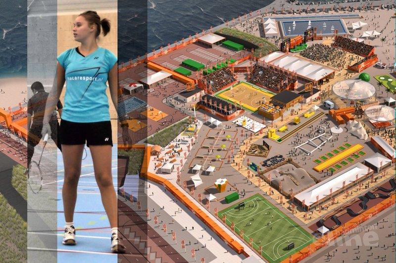 Op de foto met Nederlands Kampioene De Visch Eijbergen tijdens woensdag Olympic Experience - Olympic Experience / Alex van Zaanen / badmintonline.nl