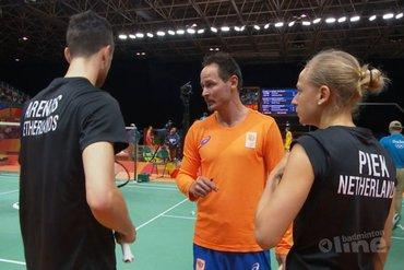Badmintonners Jacco Arends en Selena Piek uitgeschakeld in gemengddubbel