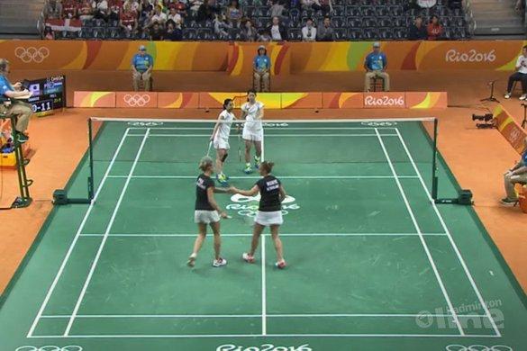 Badmintonsters Piek en Muskens onderuit tegen nummer 1 - NOS