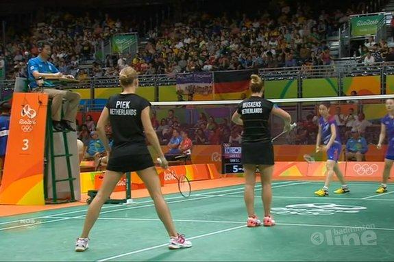 Deze afbeelding hoort bij 'Nederlands vrouwendubbel verliest spannende kwartfinale Olympische Spelen' en is gemaakt door NOS