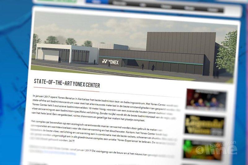 Badminton test- en belevingscentrum in Aartselaar, België - Yonex Benelux